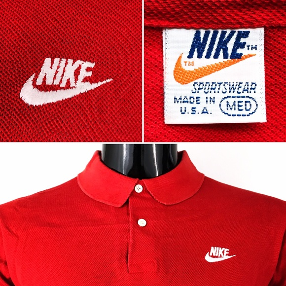 788ddd3619be2 🇺🇸Vintage Nike polo shirt very rare made in USA